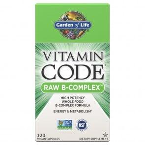 Garden of Life Vitamin Code RAW B-Complex 120 Capsules