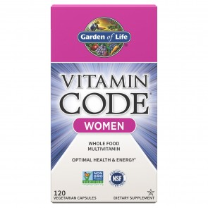 Garden of Life Vitamin Code Women Multivitamin 120 Vegetarian Capsules