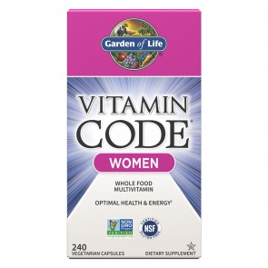 Garden of Life Vitamin Code Women Multivitamin 240 Vegetarian Capsules