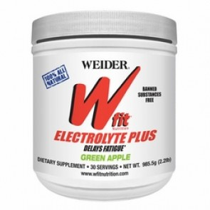 Wfit Nutrition Electrolyte Plus Powder Green Apple 2.2 lb by Weider