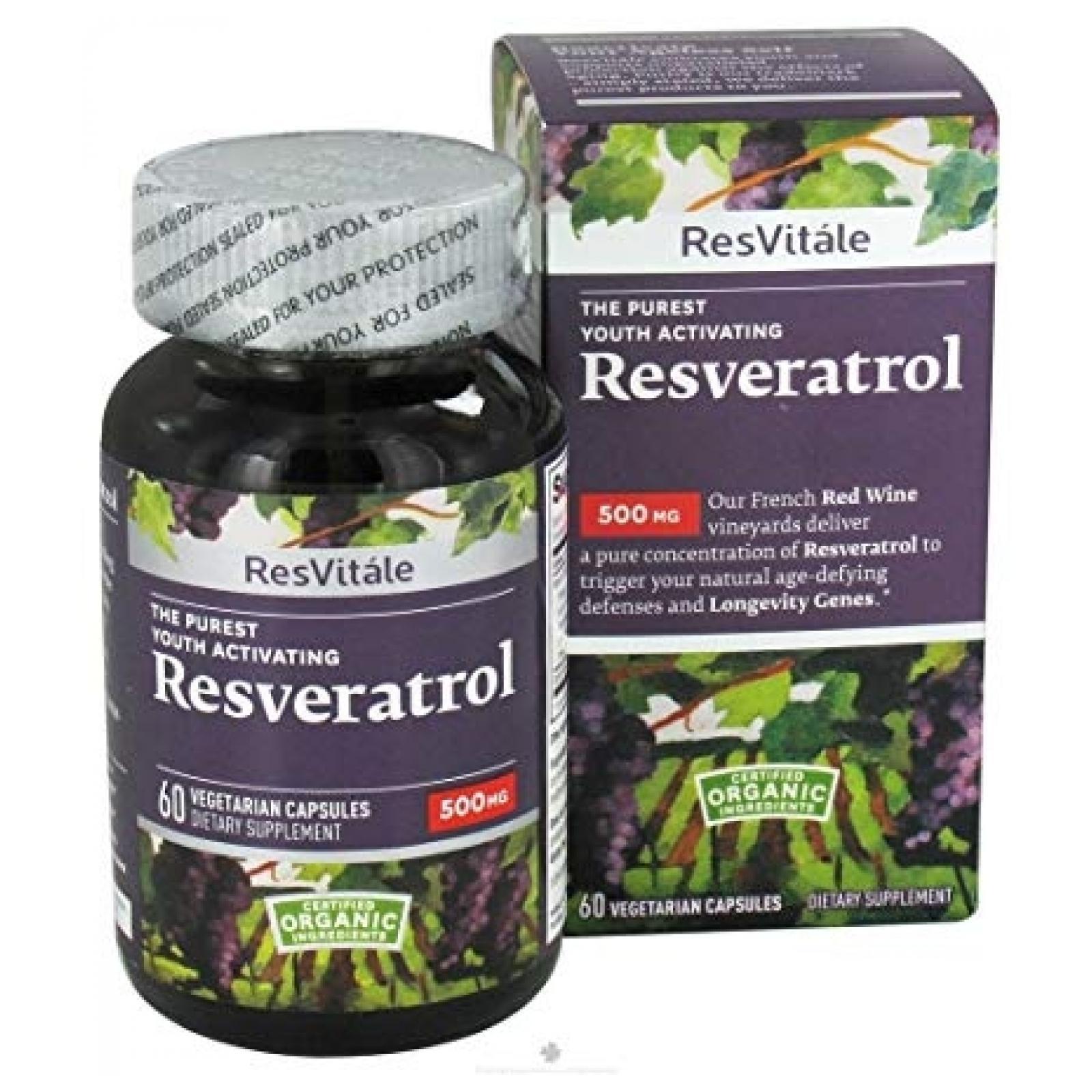 Resvitale Resveratrol 500mg 60 Veggie Capsules