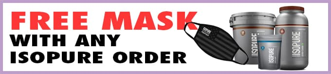 Free mask with Isopure products