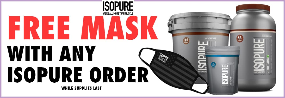 Free Mask with any Isopure Order!